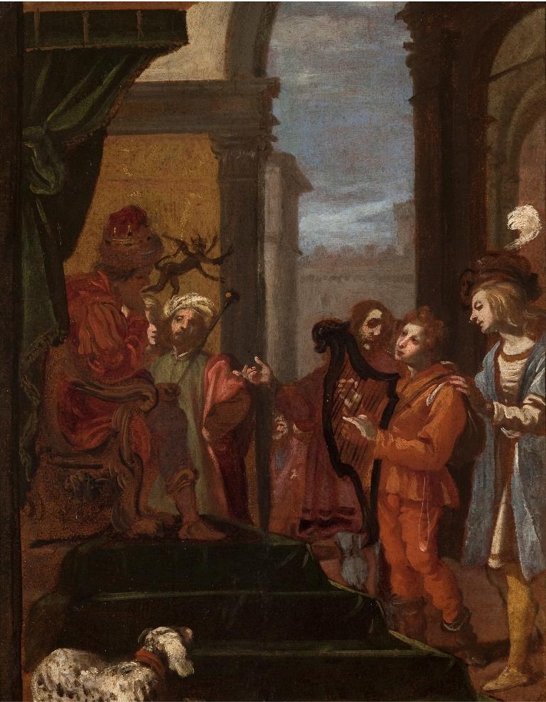 Davide suona l'arpa dinnanzi a Saul