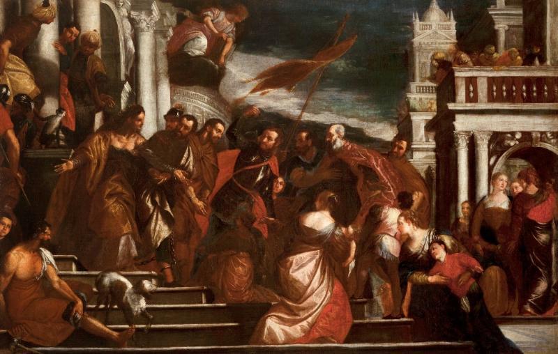San Sebastiano incita al martirio i Santi Mauro e Marcellino